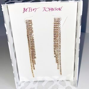 NEW Betsey Johnson Elegant Rhinestone Earrings